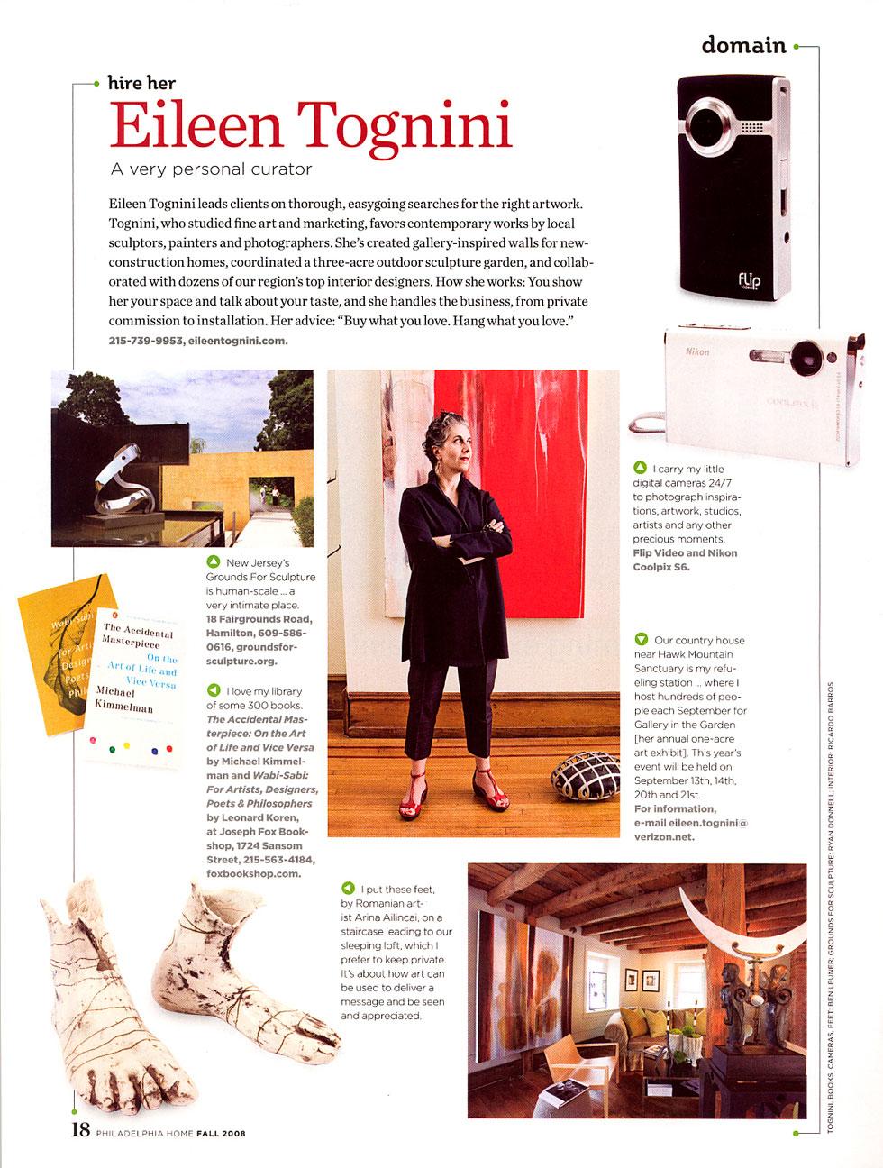 Philadelphia Home Magazine on Eileen Tognini